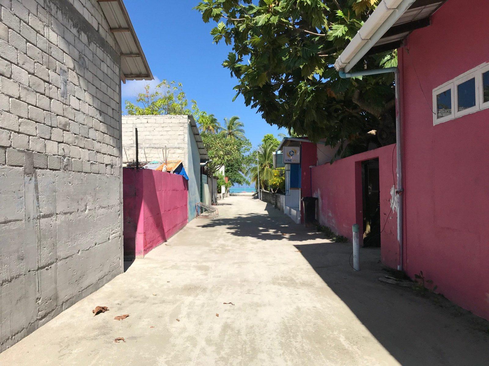 улицы острова Мативери, Мальдивы