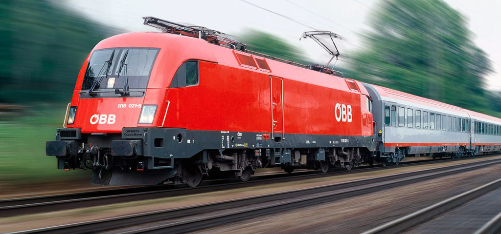 Поезд Railjet Будапешта-Вена