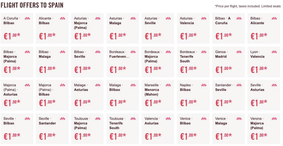 Авиабилеты по Европе за 1 евро