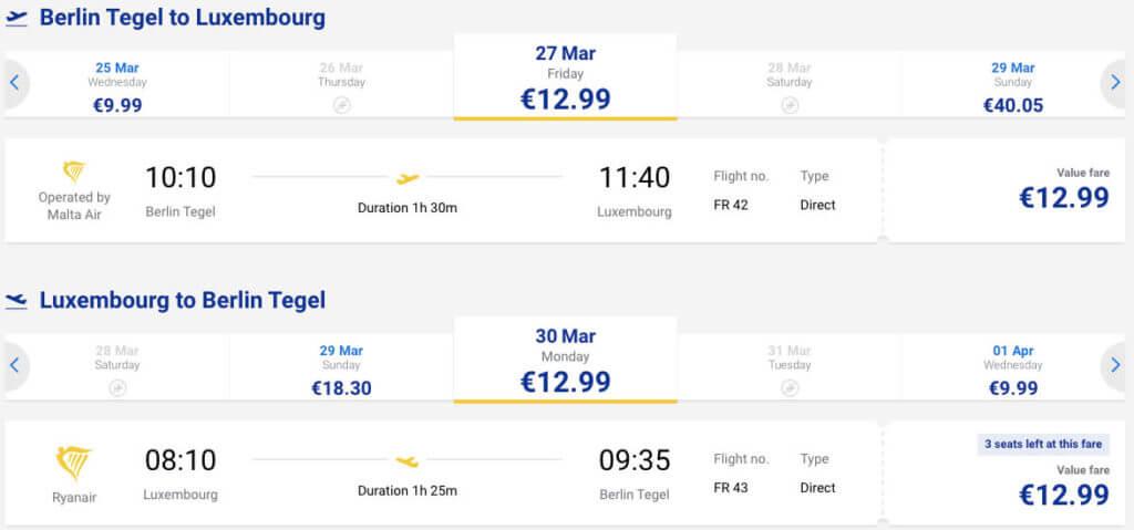 дешевые билеты в Люксембург