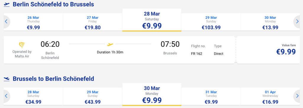 купить билет на самолет в Брюссель