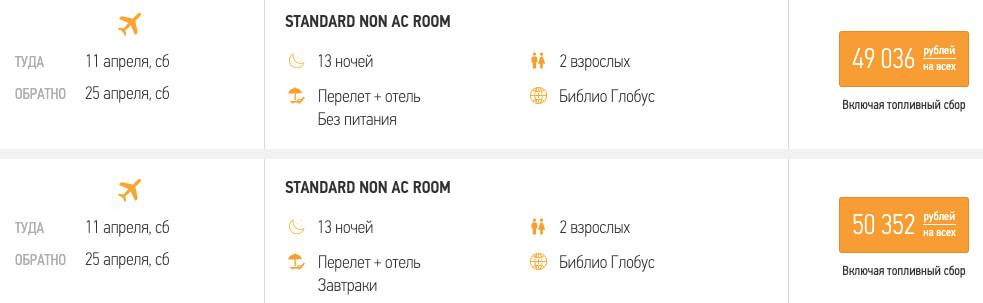 Тур в Гоа в апреле из Москвы за 24500₽