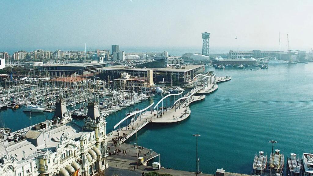 Старый порт в Барселоне