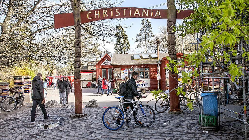 район Христиания в Копенгагене