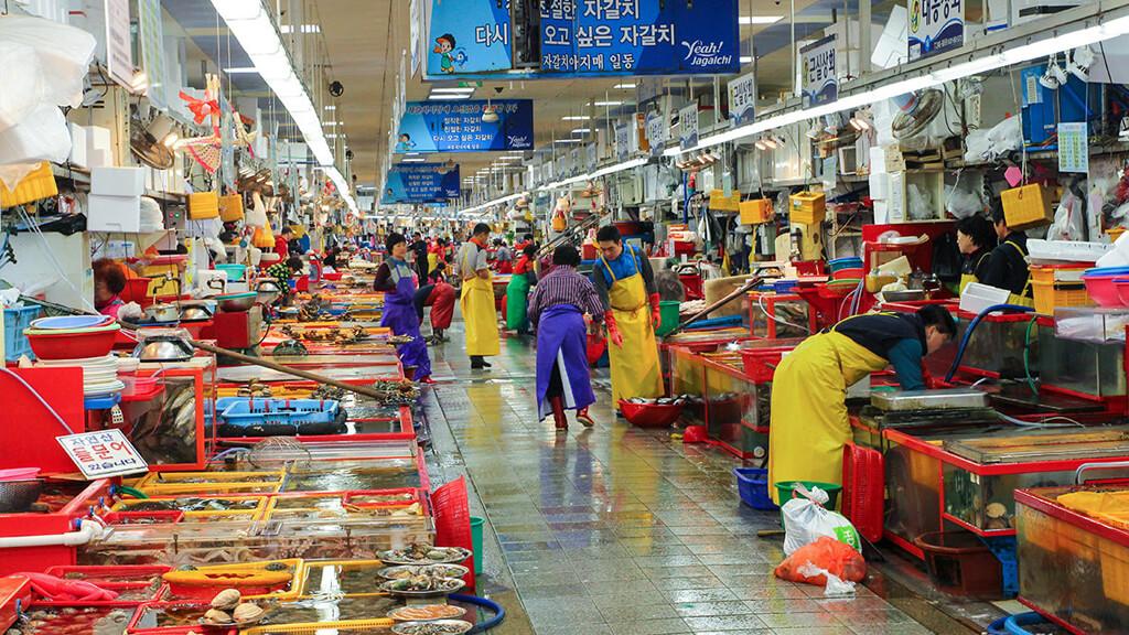 Рыбный рынок Чагальчхи в Сеуле