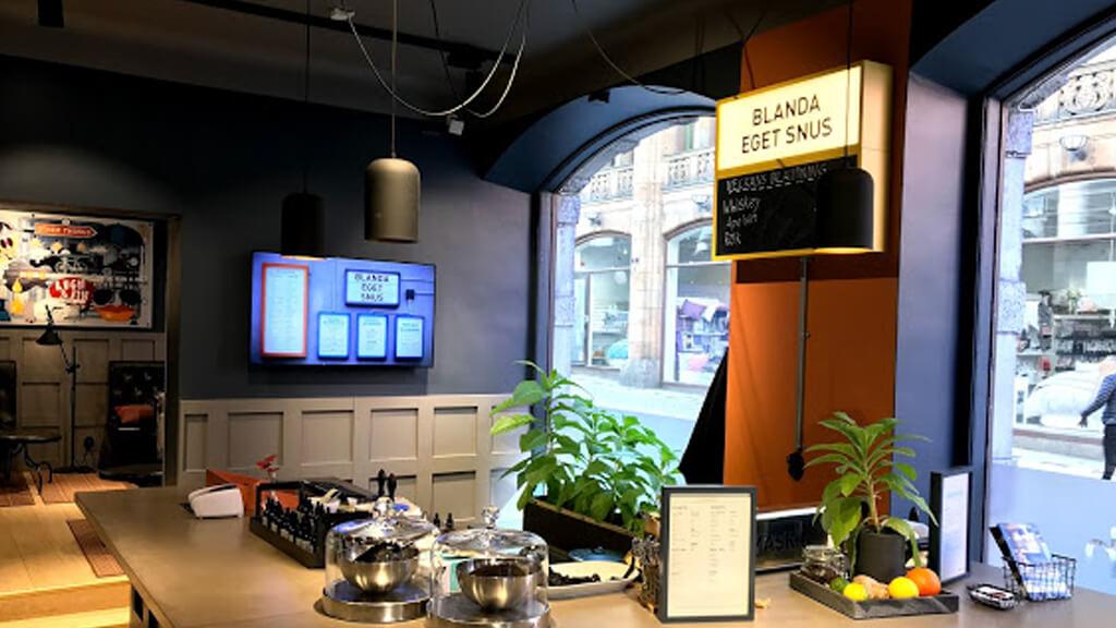 Магазин и кафе Snusbutik в Стокгольме