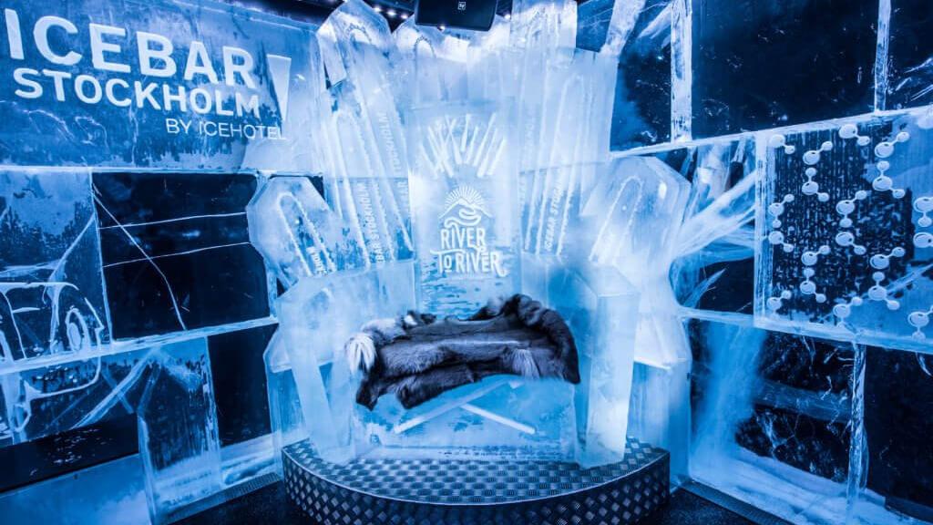 Absolut Icebar в Стокгольме