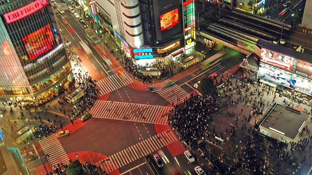 Перекресток на Сибуя в Токио