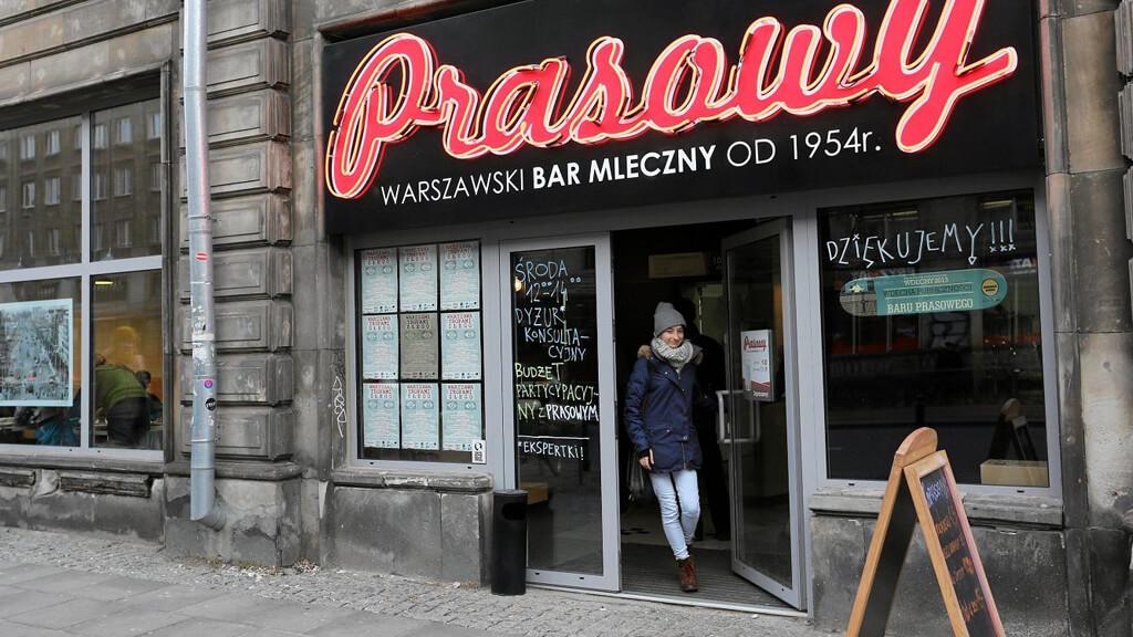 Молочный бар в Варшаве