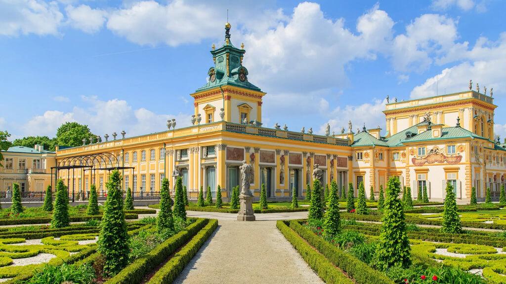 Дворец и парк Wilanów  в Варшаве