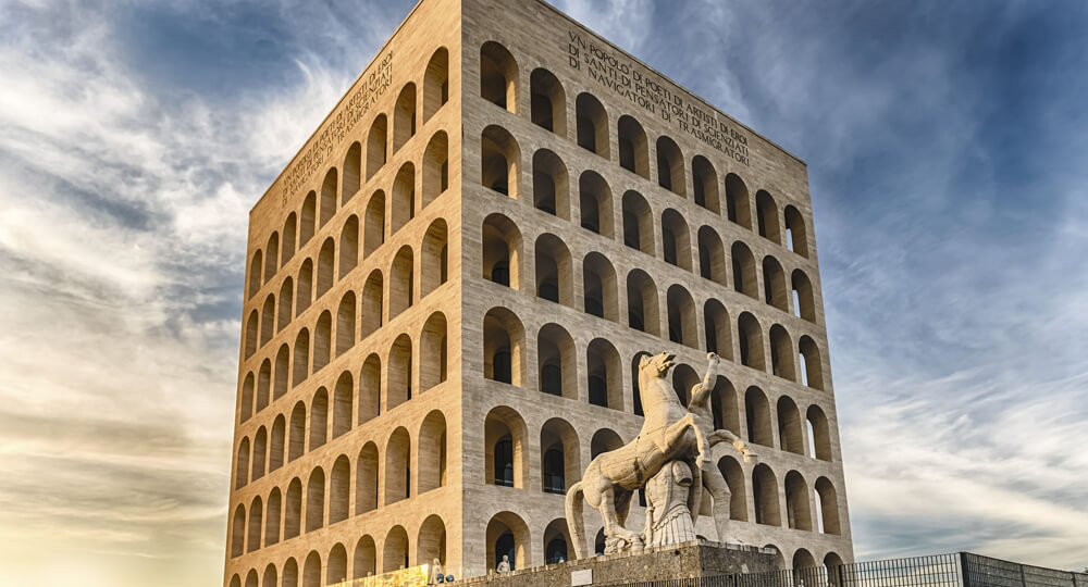 Квадратный Колизей в Риме(Colosseo Quadrato)