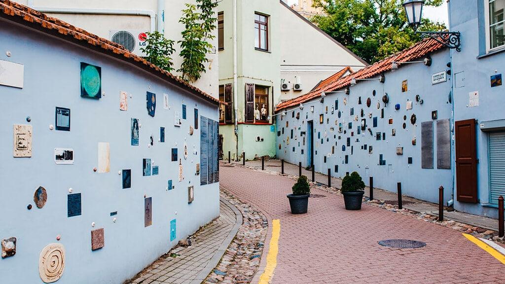 Улица Литерату в Вильнюсе