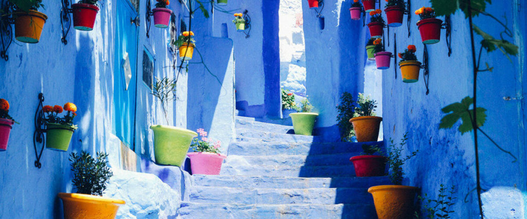 улочки маракканского города Шавен