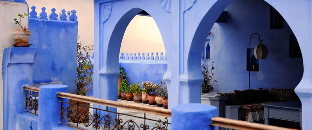 голубые улицы Шавена в Марокко