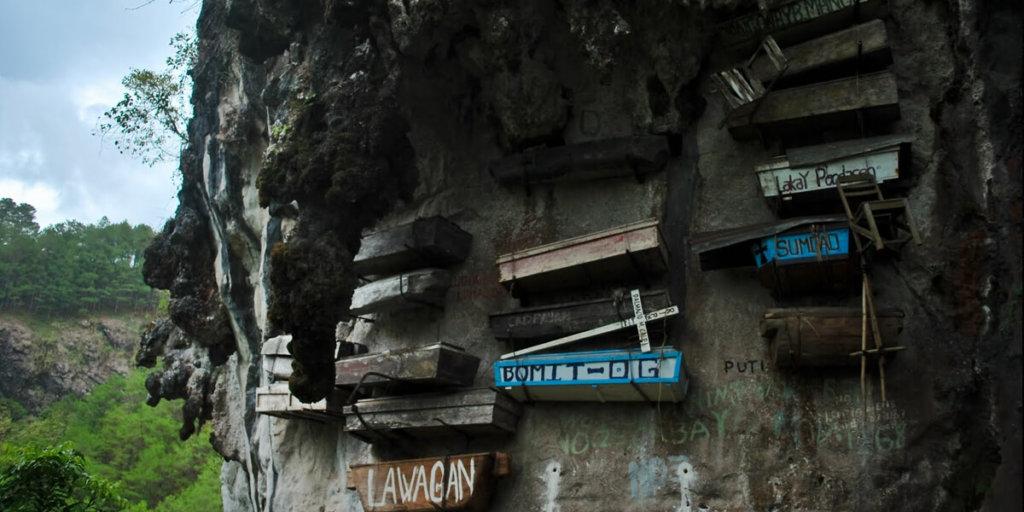 Висячие гробы Сагады (Филиппины)
