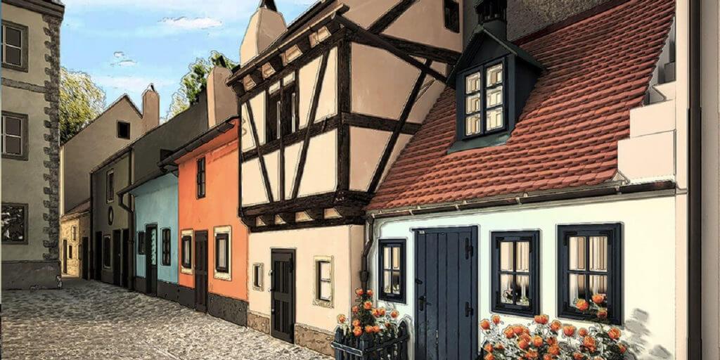 Золотой переулок в Праге
