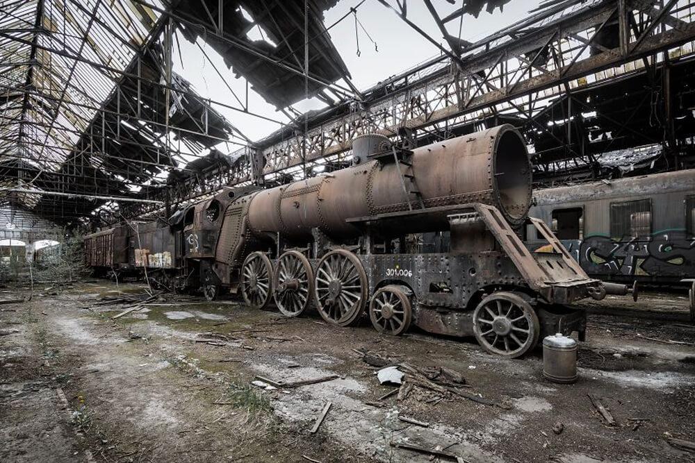 Заброшенный советский поезд, Венгрия