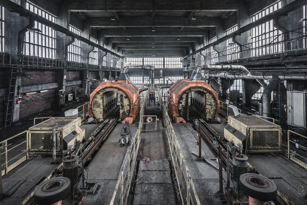 Заброшенное здание шахты, Германия