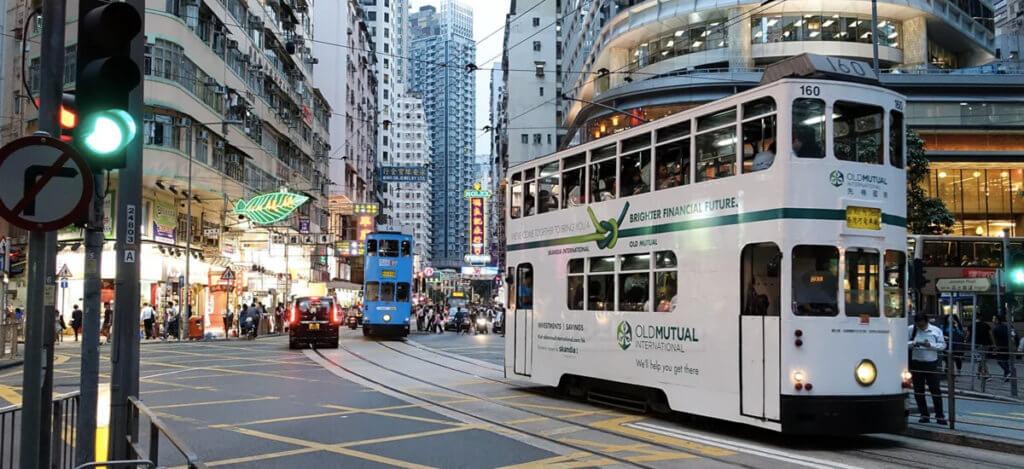 двухэтажный трамвай гонконга