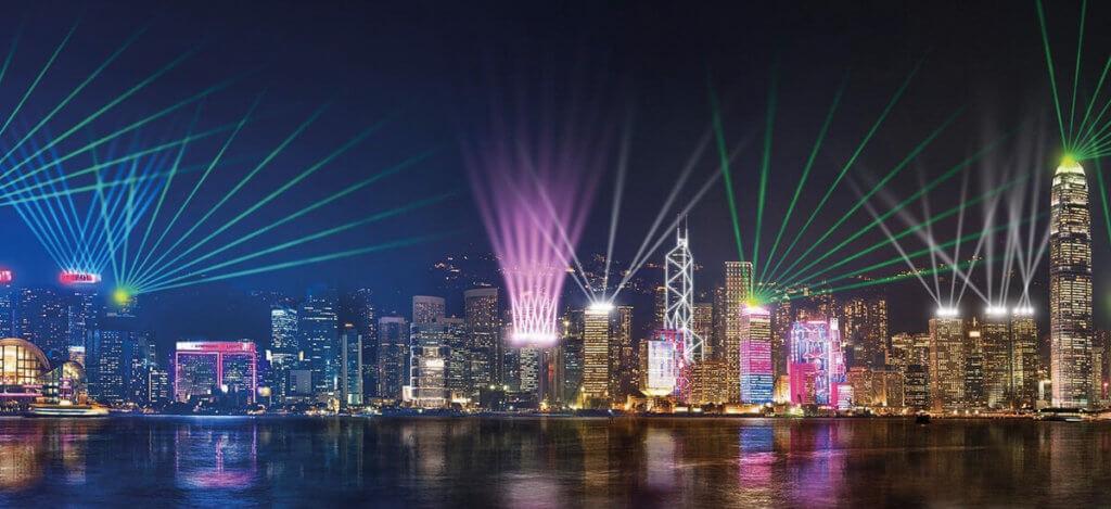 лазерное шоу «Симфония цвета» Гонконг