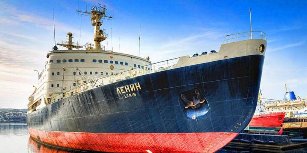 атомный ледокол «Ленин» в Мурманске