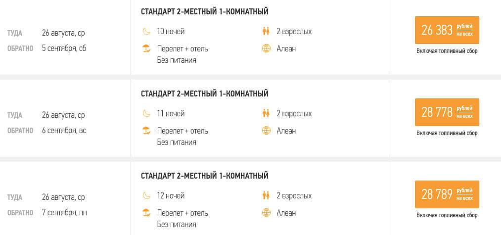 Тур в Абхазию из Москвы на 10 ночей за 13200₽