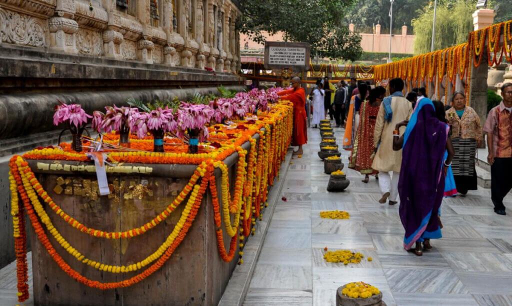 цветы лотоса в храме Махабодхи