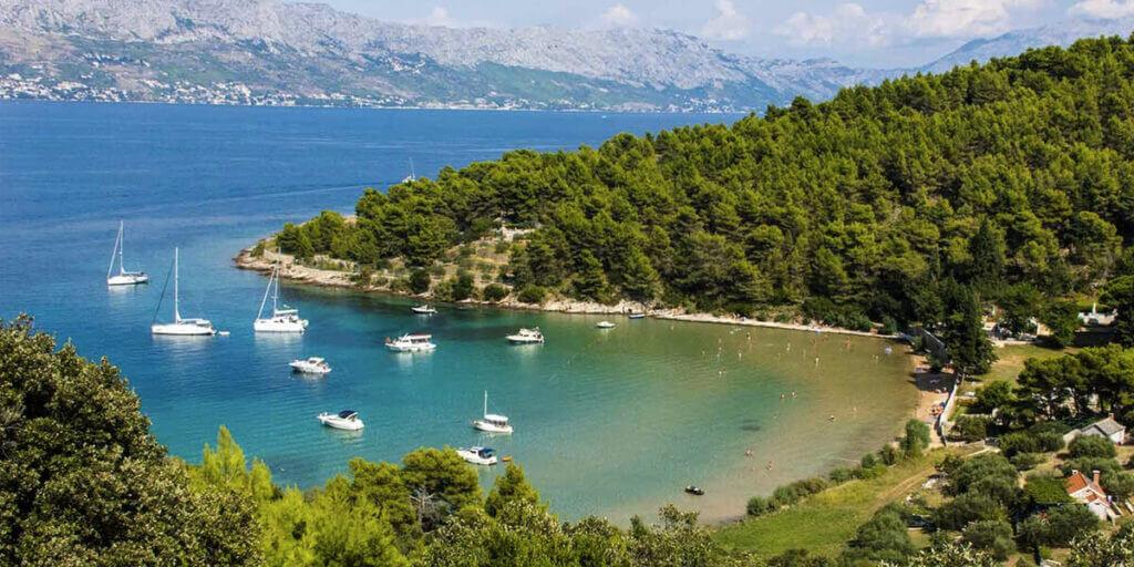 пляж Ловречина в Хорватии